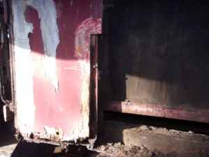 Last piece of the old siding on the east side